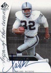 2003 Upper Deck SP Authentic Marcus Allen Sign of the Times