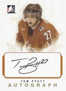 2007-08 In The Game O Canada Tom Pyatt