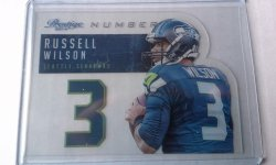 2014 Panini Prestige Numbers  Russell Wilson