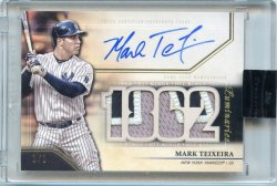 2020 Topps Luminaries Mark Teixeira Hit Kings Auto Relic Black