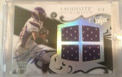 2008  Exquisite Adrian Peterson Quad Auto