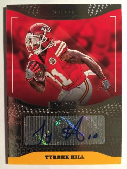 2016 Donruss Signature Series #243 Tyreek Hill RC