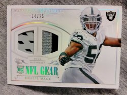 2014 Panini National Treasures Khalil Mack Rookie NFL Gear Dual Materials Prime