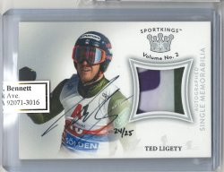 2020 Leaf Sportkings Ted Ligety Jersey Autograph