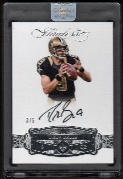 2016   Drew Brees Flawless Silver Parallel Auto #3/5