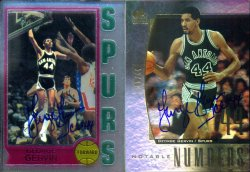 Upper Deck  SP Signatures Notable Numbers George Gervin