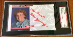 Mae Young  Cut Auto  (SGC Certified)    A6130
