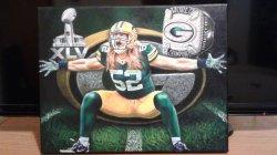 Moreau Art Oil on Canvas Clay Matthews