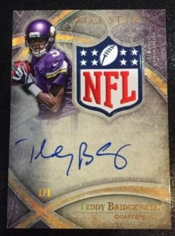 2014 Topps Five Star Teddy Bridgewater NFL Logo Auto
