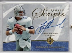 2006 Upper Deck Ultimate Collection  Troy Aikman Ultimate Scripts