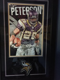 Adrian Peterson Personalized 11x14