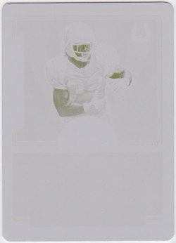 2016 Panini Classics Timeless Ink Yellow Printing Plate Edgerrin James