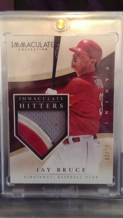 2014 Panini Immaculate Jay Bruce Immaculate Hitters w/ patch
