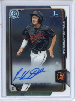 2015 Bowman Chrome Draft Ryan Mountcastle Draft Picks Autograph