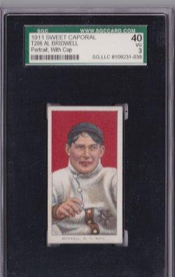 1909  T206 Sweet Caporal Al Birdwell Portrait