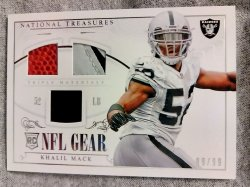 2014 Panini National Treasures Khalil Mack Rookie NFL Gear Triple Materials #2