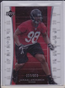 Jamaal Anderson 2007 UD Trilogy RC /399