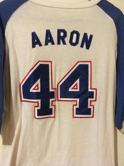 MLB Brave Jersey  HANK AARON #44 Atlanta Brave HOF OF