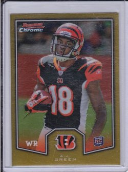 A.J. Green 2011 Bowman Chrome Rookie Preview Inserts RC