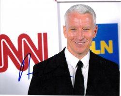 Anderson Cooper 8x10 IP Autograph