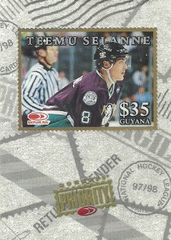 1997/98 Donruss Priority Stamps Gold Selanne