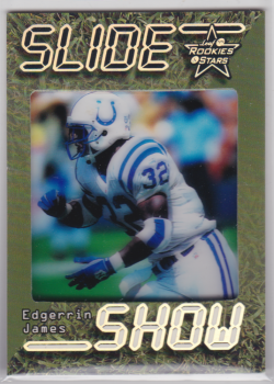 1999 Leaf Rookies And Stars SlideShow Green Edgerrin James