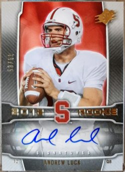 2012 Upper Deck SPX Andrew Luck rookie signatures