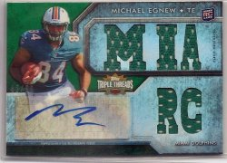 2012 Topps Triple Threads Emerald Relic Auto Michael Egnew