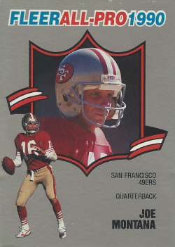 1990 Fleer All-Pro Joe Montana