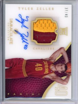 2012-13 Panini Immaculate Tyler Zeller Numbers Variation RPA