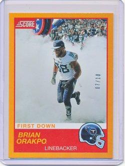 Brian Orakpo 2019 Score First Down /10