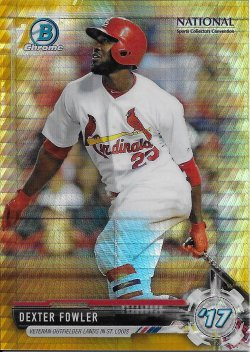 2017 Bowman Chrome National Convention Refractors Gold Fowler