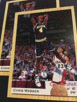 1993  Classic Draft Picks CHRIS WEBBER  #1  Michigan Wolverines Warriors RC PF