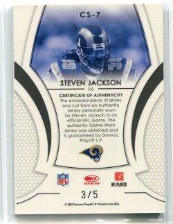 2007 Leaf Certified Materials Steven Jackson Certified Skills Emerald Back