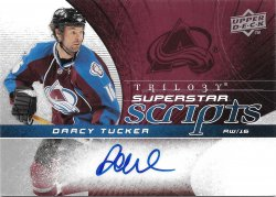 2008-09 Upper Deck Trilogy Superstar Scripts Darcy Tucker