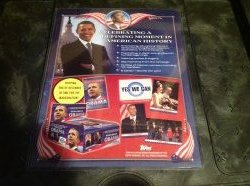 2009 Topps Obama Inaugural Set Advertisement Poster  (8x10)