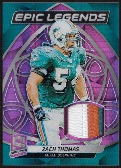 2019 Panini Spectra Epic Legends Materials Neon Pink Zach Thomas