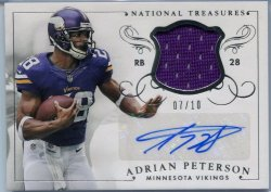 2014 Panini National Treasures Adrian Peterson Auto Relic