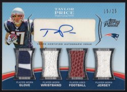 2010 Topps Prime Autographed Relics Level 3 Taylor Price