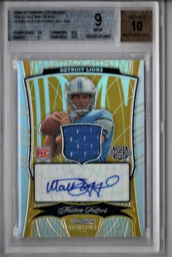 2009 Bowman Sterling Matthew Stafford