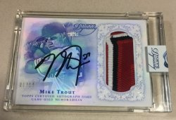 2015 Topps Dynasty Mike Trout Auto Patch