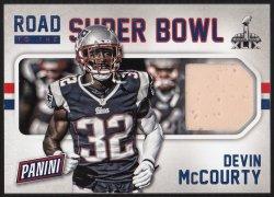 2015 Panini Father�s Day Road To Super Bowl Memorabilia Devin McCourty