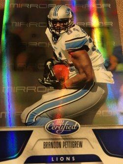 2011 Panini Certified Blue Mirror  BRANDON PETTIGREW  #48  97/100  Detroit Lions OSU  TE