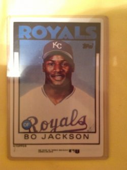 1986 Topps R&N China Porcelain Bo Jackson
