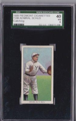 1909  T206 Piedmont 150 Admiral Schlei  Catching