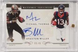 Thomas/Miller 2016 National Treasures Dual Silver Signatures