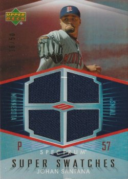 07 Upper Deck Spectrum Super Swatches #ed 16 of 50