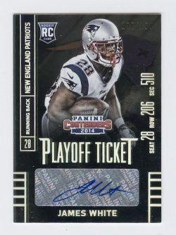 2014 Panini Contenders Playoff Ticket #136 James White AU/99