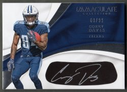 2017  Immaculate Collection Rookie Eye Black Autographs Corey Davis