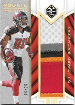 2017 Panini Limited Rookie Phenoms Jerseys Gold Spotlight O.J. Howard